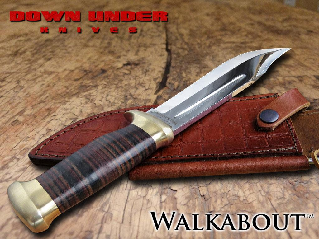 Down Under Knives The Walkabout Bowie Knife 8 Quot Polished