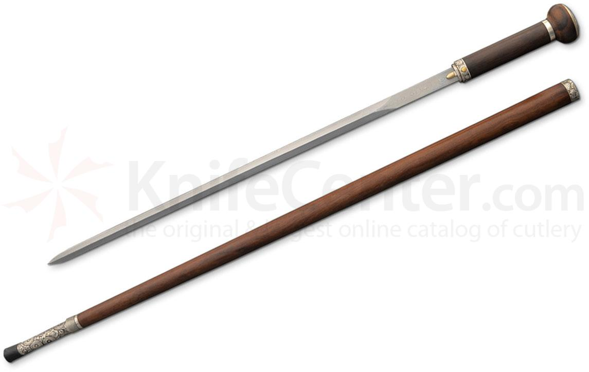 Dragon King SD12140 Damascus Taiji Sword Cane with By-Knife, 37.5 inch Overall