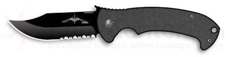 Emerson CQC13 Wave Combat Bowie Folder Combo Edge 3.8 inch Black Blade