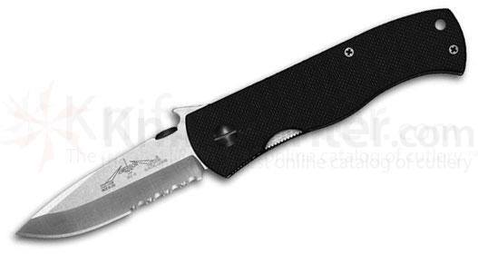 Emerson CQC7AW Folding Knife 3.3 inch Stonewash Combo Spear Point Blade with Wave, G10 Handles