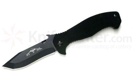 Emerson Mini CQC-15 Folding Knife 3.5 inch Black Plain Blade, G10 Handles