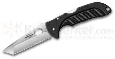 Emerson Reliant Hard Wear Series Folding Knife 3.4 inch Satin Serrated Tanto Blade, Zytel Handles