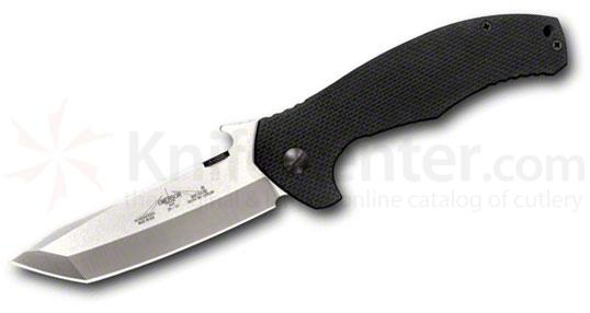Emerson Roadhouse Folding Knife 3.8 inch Stonewash Plain Tanto Blade, G10 Handles