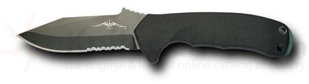 Emerson Police Utility Knife Fixed 3.6 inch Black Combo Blade, G10 Handles