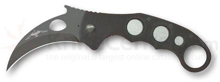 Emerson Super Karambit Folding Knife 3.4 inch Black Blade with Wave, Black G10 Handles