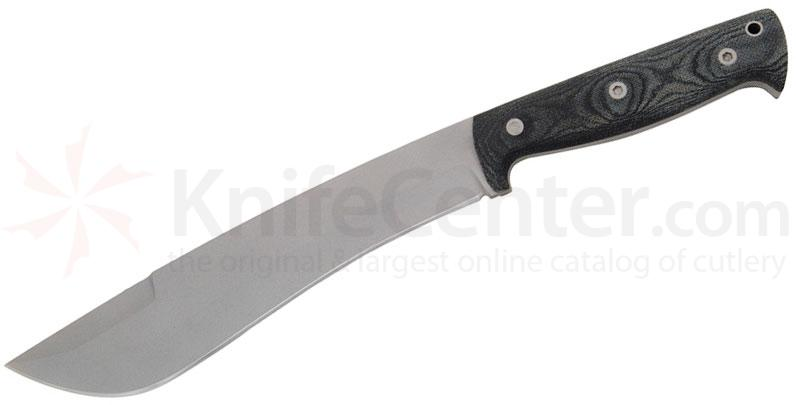 Entrek Destroyer Fixed 9 inch Blade, Black Canvas Micarta Handles