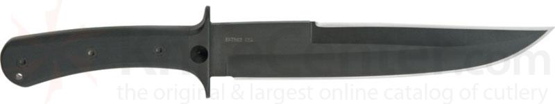 Entrek Ranger MKII Fixed 9 inch 440c Stainless Steel Blade, Black Canvas Micarta Handles