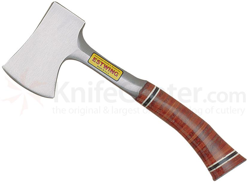 Estwing Sportsman Axe 11-1/2 inch Overall, Stacked Leather Handle, Nylon Sheath