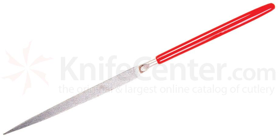 EZE-LAP 606F Fine Grit Needle File, Knife, Red Handle