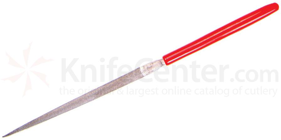 EZE-LAP 613F Fine Grit Needle File, Pippin, Red Handle
