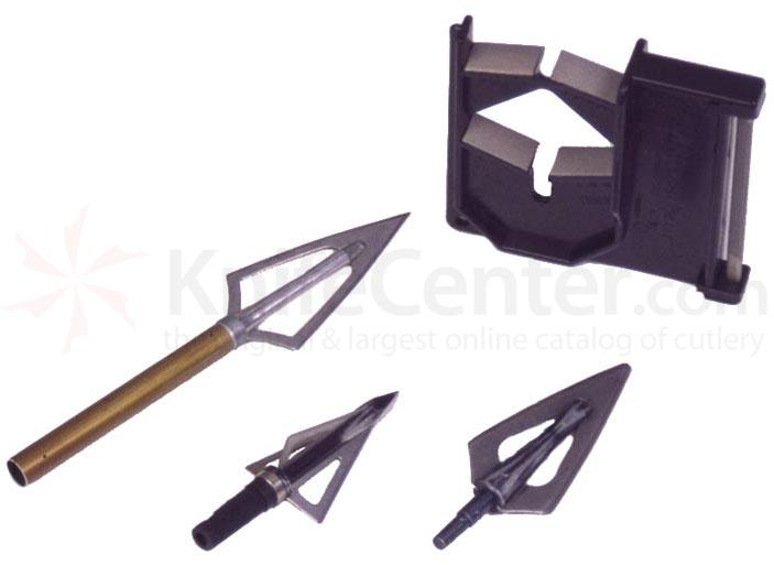 EZE-LAP Diamond Broadhead Sharpener for 2, 3, & 4 Blade Heads with Knife and Hook Sharpener