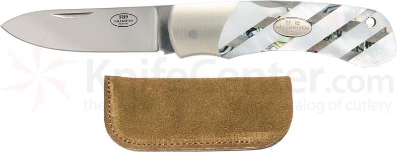 Fallkniven FH9 Folding Hunter 2.6 inch 3G Blade, Mother of Pearl Handles