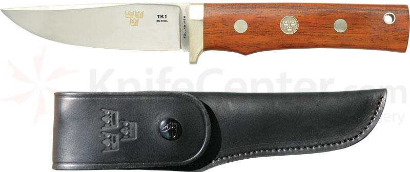 Fallkniven TK1 Tre Kroner de Luxe Fixed 4 inch Blade, Cocobolo Handle, Leather Sheath