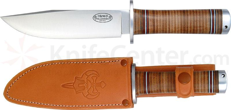 Fallkniven NL3 Northern Light Njord Bowie 5.9 inch VG10 Blade, Leather Sheath