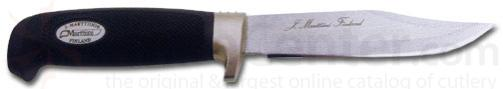 Marttiini Bowie Fixed 4-7/8 inch Plain Blade, Zytel Handles, Leather Sheath