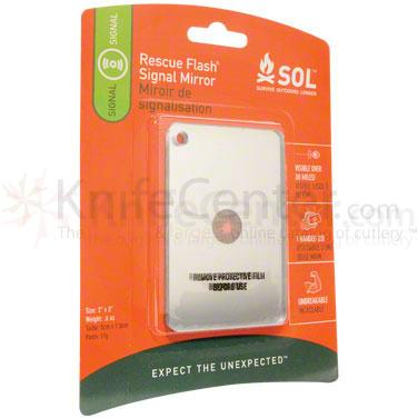 Adventure Medical Kits SOL Rescue Flash Signal Mirror 2 inch x 3 inch