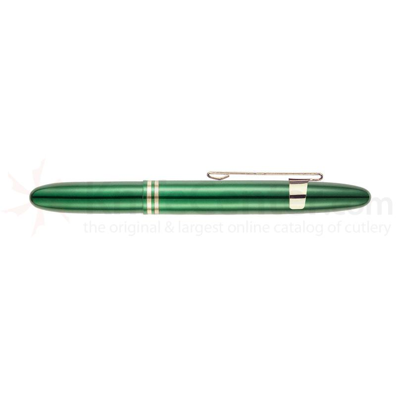 Fisher Emerald Green Bullet Space Pen with Gold Clip