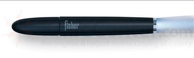 Fisher Black Matte Finish Fisher Space Beam with Blue Light.