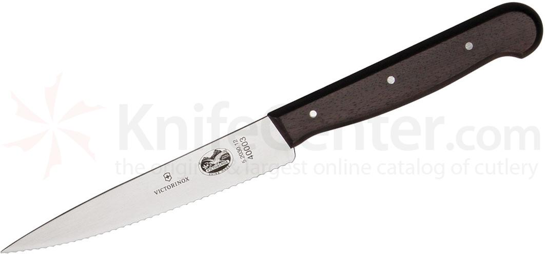 Victorinox Forschner Serrated Paring Knife 4.75 inch Blade, Rosewood Handle