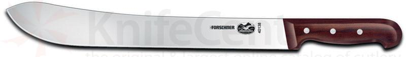 Victorinox Forschner 14 inch Stainless Plain Edge Butcher Knife w/ Rosewood Handle