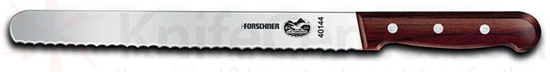 Victorinox Forschner 10 inch Round End Slicer Bread Knife Rosewood Handle Wavy Edge