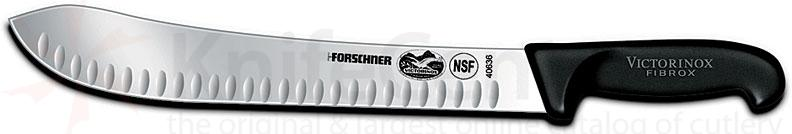 Victorinox Forschner 12 inch Stainless Granton Edge Butcher Knife w/ Fibrox Handle