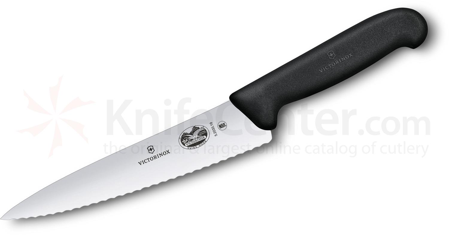 serrated kitchen knives victorinox forschner fibrox 7 5 quot serrated chef s knife 14845