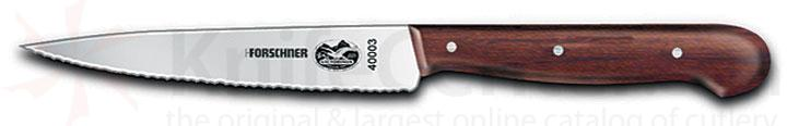 Victorinox Forschner Serrated Paring Knife 4.75 inch Blade With Rosewood Handle