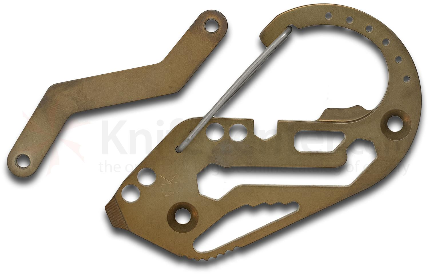 Fortius Arms Bronze Anodized Titanium KeyBiner Carabiner Key Retention System