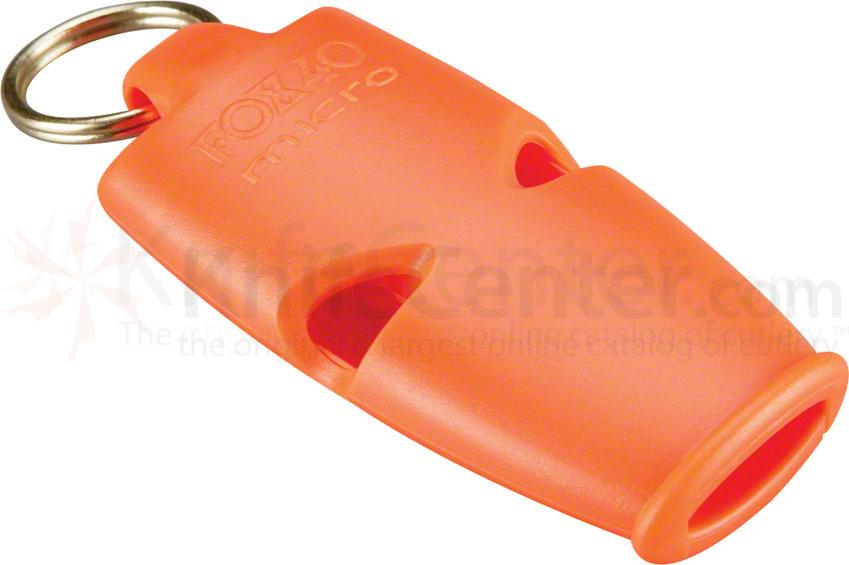 Fox 40 Micro Safety Whistle with Lanyard, Orange