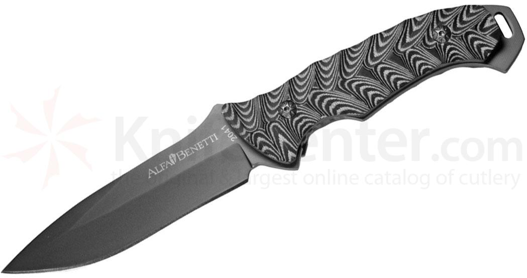 Fremont Knives Alfa Benetti Primal Force Fixed 4-3/4 inch Plain Blade, Micarta Handle, Kydex Sheath