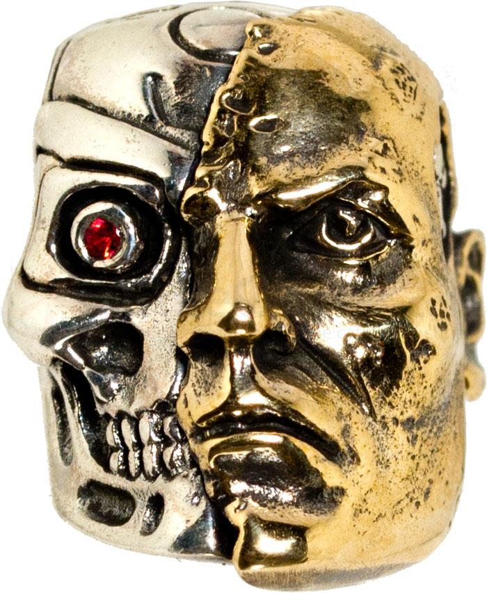 GD Skulls USA T1 Terminator Skull with Bejeweled Eye