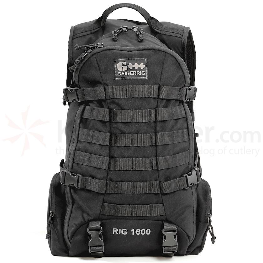 GEIGERRIG Tactical 1600 Hydration Pack, Black (G5 1600TAC BK)