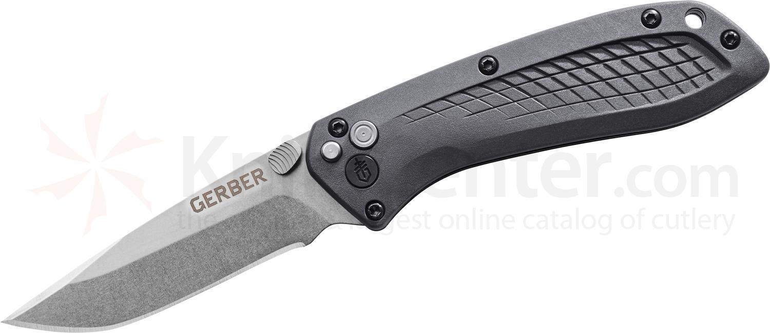 Gerber US-Assist Assisted Folding Knife 3 inch S30V Stonewash Plain Blade, Gray GFN Handles