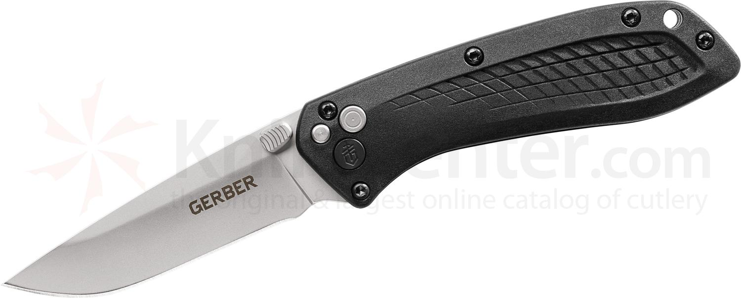 Gerber US-Assist Assisted Folding Knife 3 inch 420HC Glass Bead Combo Blade, Black GFN Handles