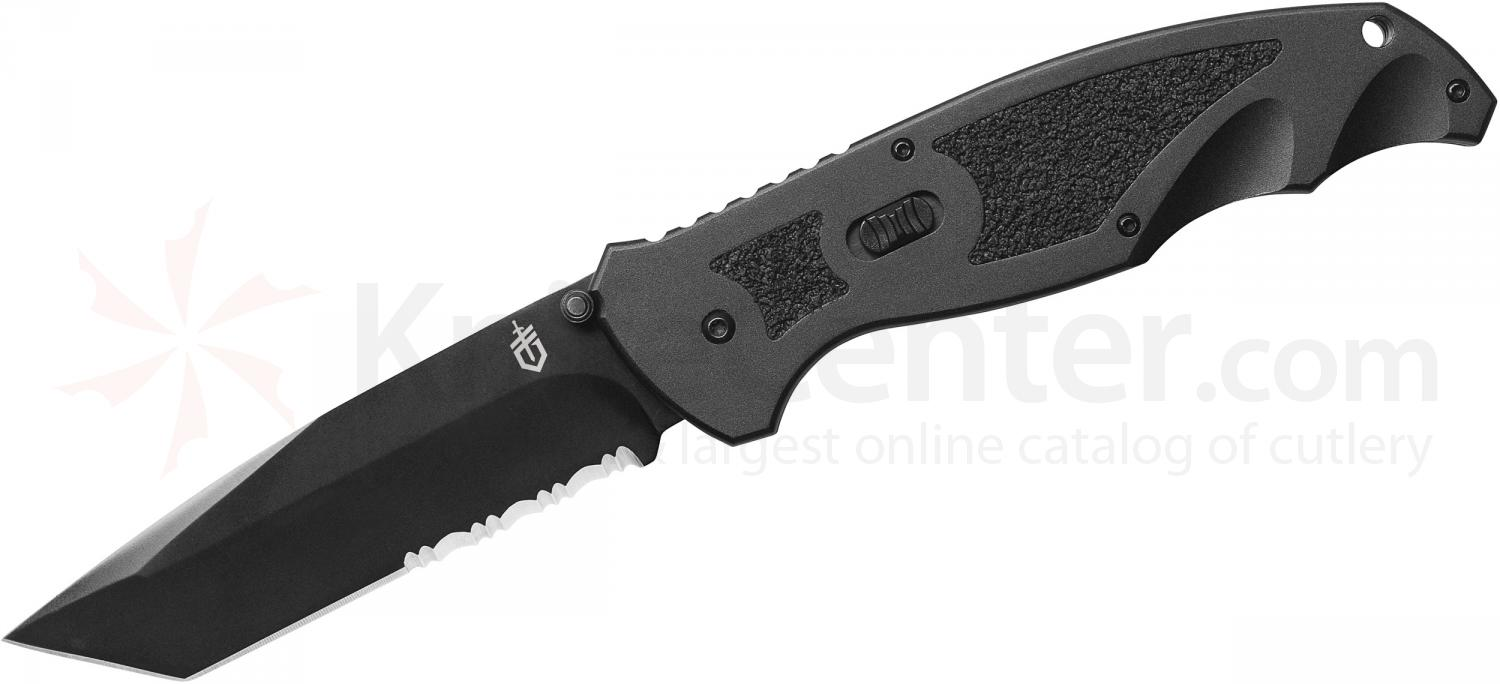 Gerber Answer XL FAST Assisted Folding Knife 4 inch Combo Tanto Blade, Aluminum Handles