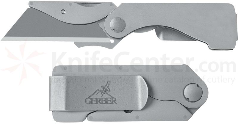 Gerber EAB Pocket Knife Stainless Steel w/ Contractor Razor Cutter (22-41830)
