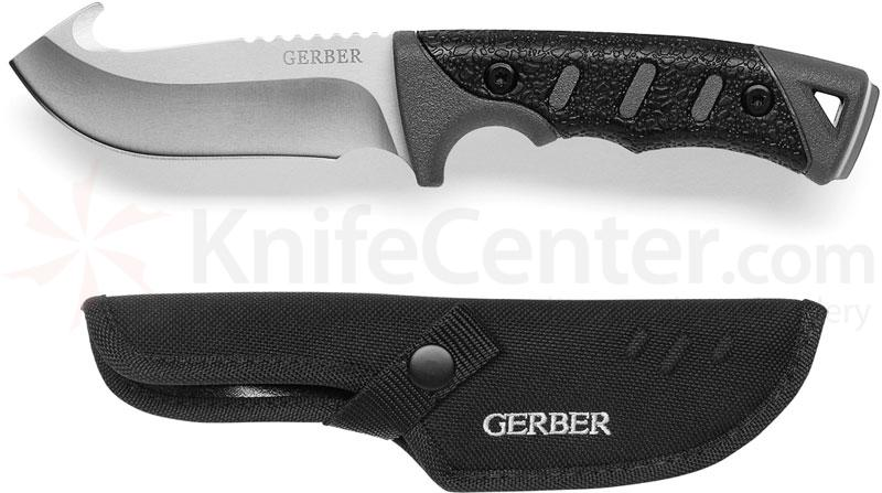 Gerber Metolius Fixed Hunter 3.75 inch Plain Edge Blade with Gut Hook
