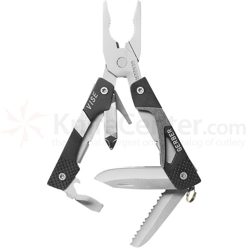 Gerber Vise (Black) Keychain Size Mini-Pliers Multi-Tool 2.4 inch Closed
