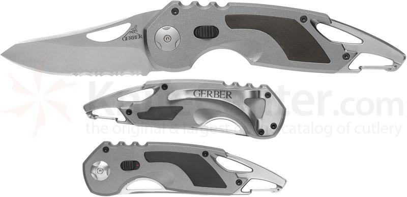 Gerber AO F.A.S.T. 3.0 Assisted 2.9 inch Combo Blade, Bottle Opener, Carabiner