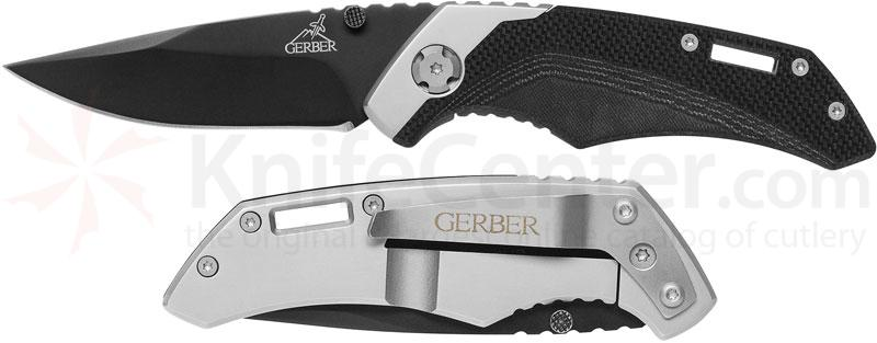 Gerber Contrast Folding Knife 3 inch Plain Blade, G10 and Stainless Steel Handles