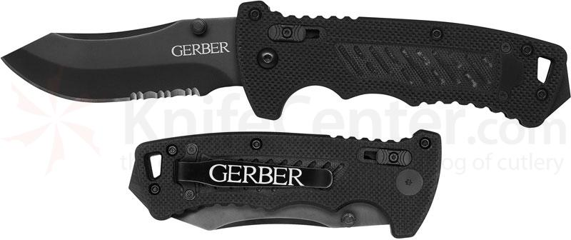 Gerber DMF Manual Folding Knife 3.5 inch Modified Clip Point Combo Blade, G10 Handles (31-000582)