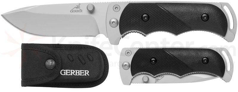 Gerber Freeman Guide Folding Knife 3.6 inch Plain Blade, TacHide Handle, Nylon Sheath
