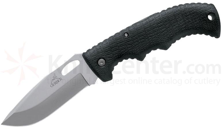 Gerber Gator II Folding Knife 3.62 inch Plain Drop Point Blade, Gator Grip Handle