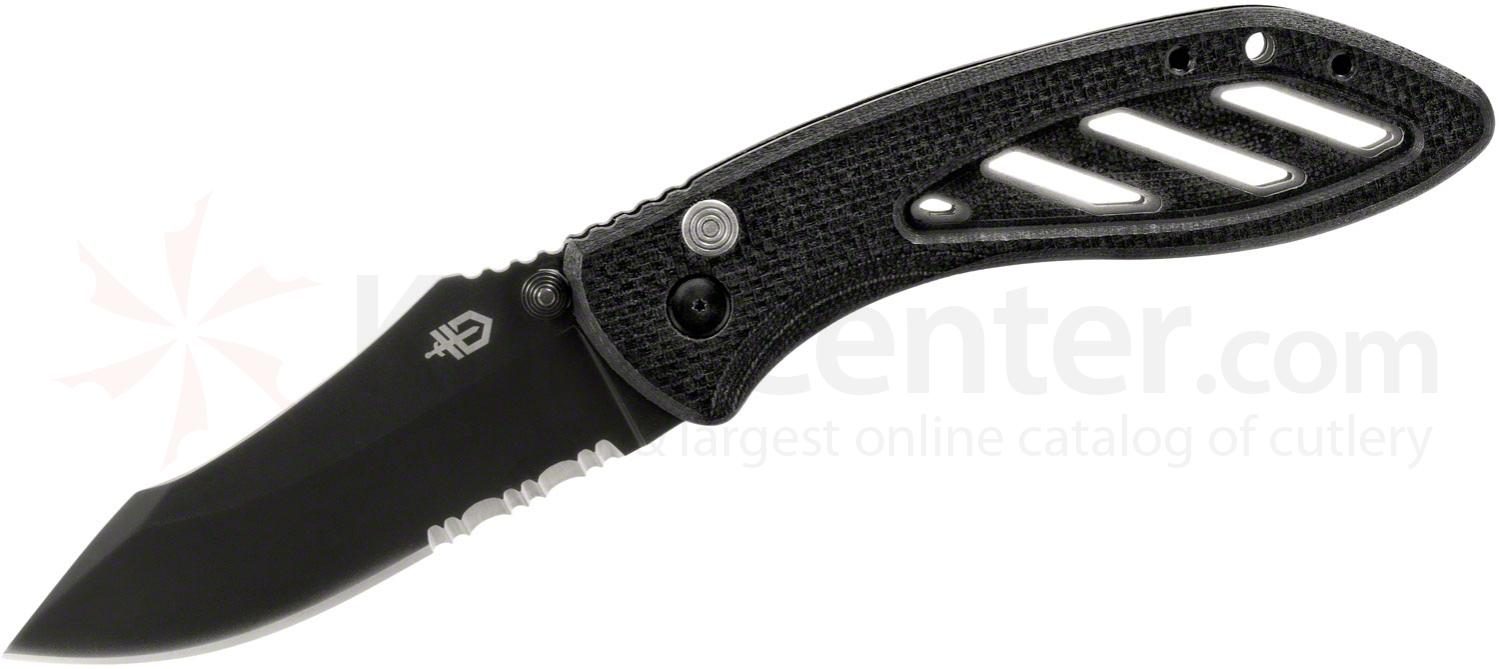 Gerber 31-002184 Instant Assisted 3.33 inch Black Combo Blade, G10 Handles