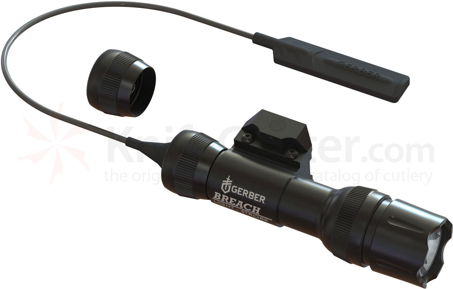 Gerber Tactical Breach Weapons Light, Tailcap and Remote Pressure Switches, 230 Max Lumens