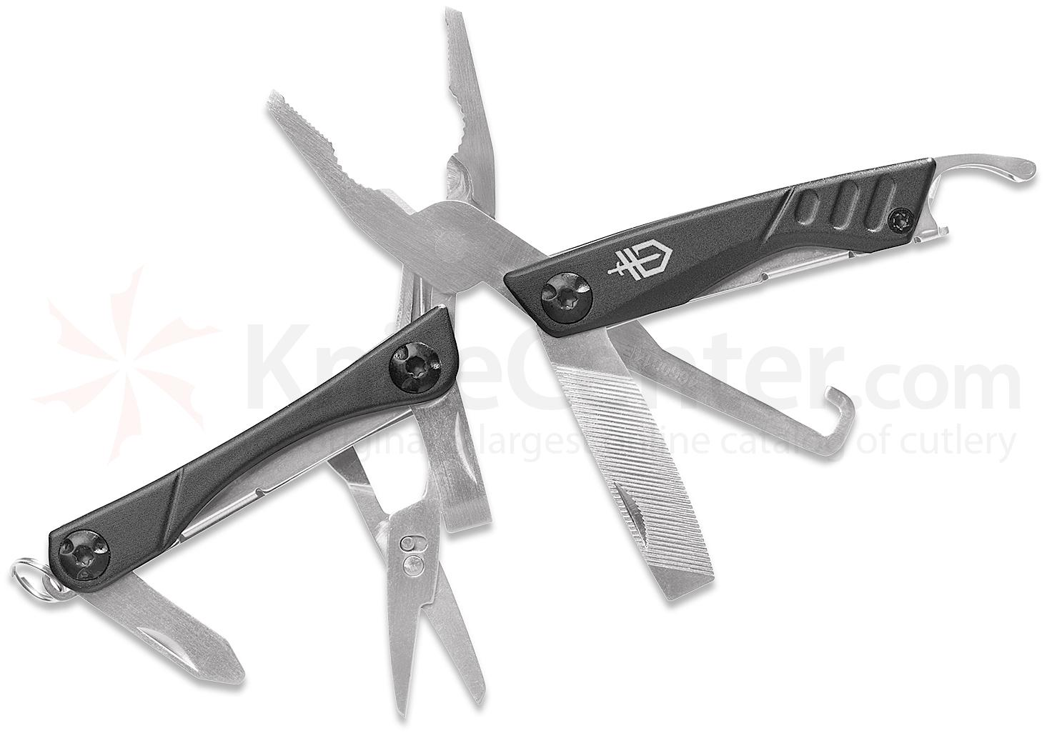 Gerber Dime Travel Keychain Multi-Tool 2.8 inch Closed, Bladeless, Stainless Steel Handles (Box)