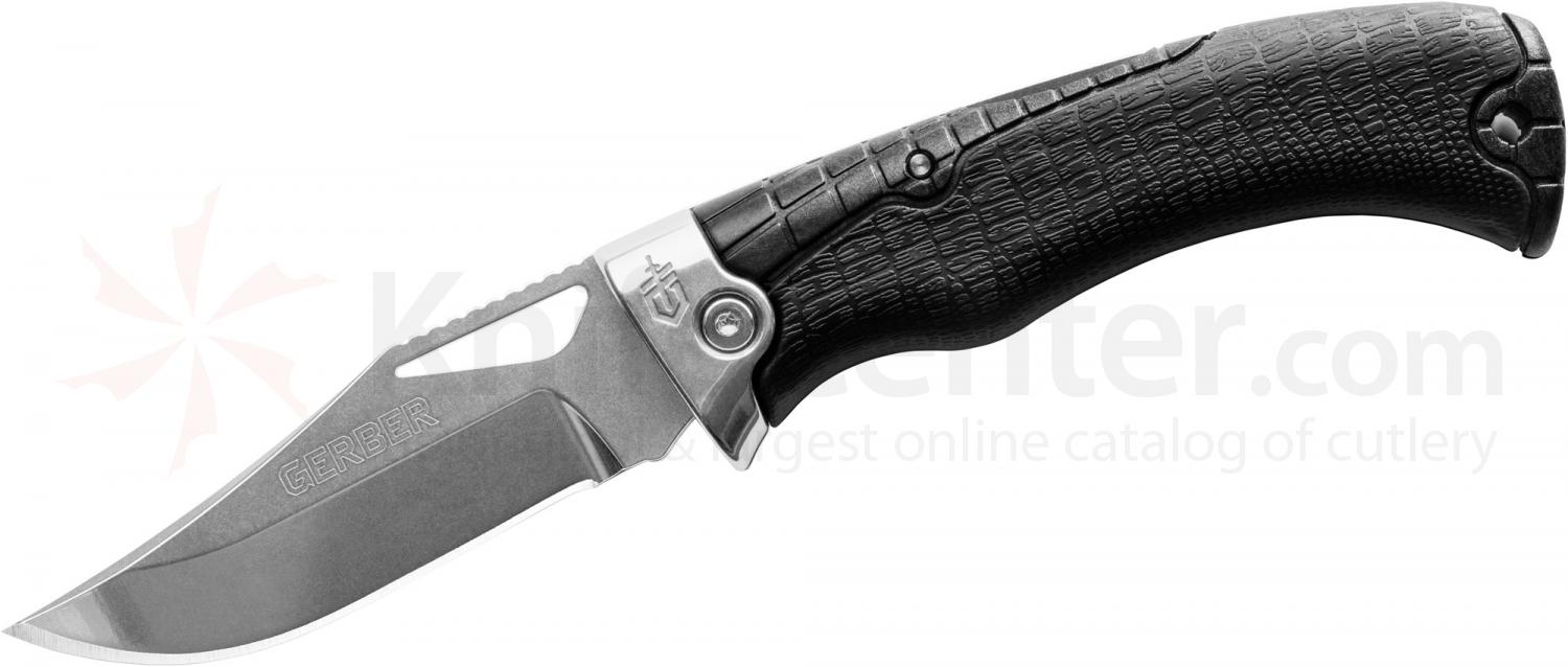 Gerber Gator Premium Folding Knife 4 inch S30V Plain Blade, Gator Grip Handle