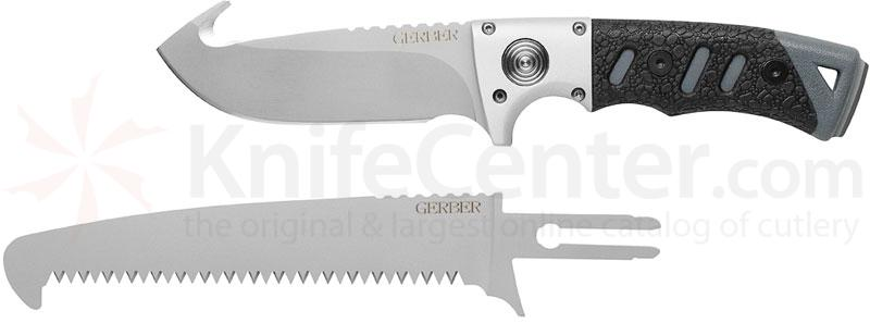 Gerber Metolius Exchange-A-Blade Fixed Skinner, Gut Hook, 2 Blades, TacHide Handles