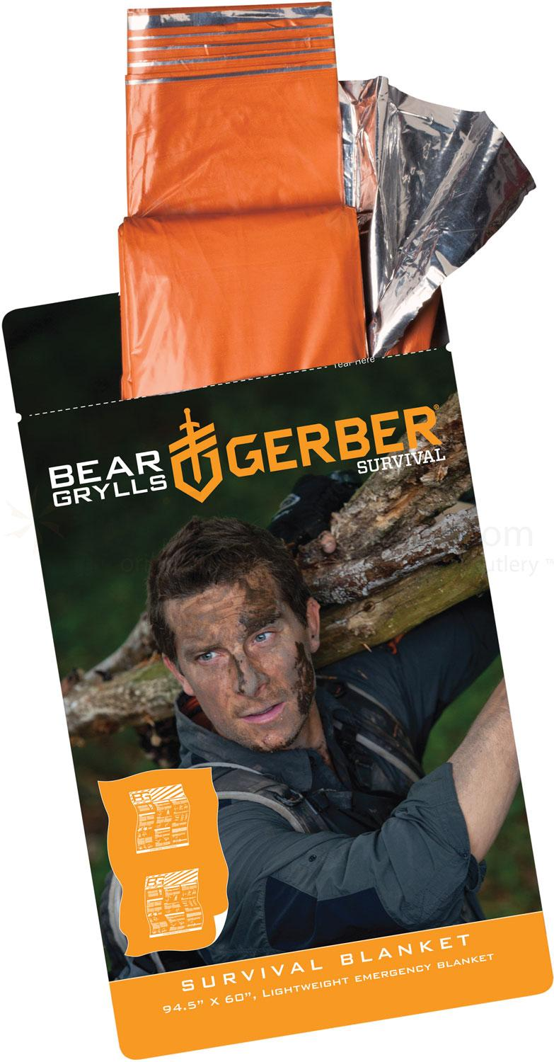 Gerber 31-001785 Bear Grylls Survival Blanket, 94.5 inch x 60 inch Overall